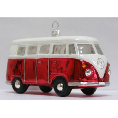 christbaumschmuck vw bus bulli in rot. Black Bedroom Furniture Sets. Home Design Ideas