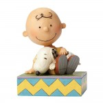 Jim Shore Peanuts Happiness Is Snuggling (Charlie Brown with Snoopy)